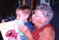 reading great-grandma a book