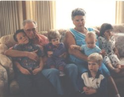 [picture of great grandparents and great grandkids]