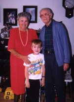 me with my great grandma and grandpa