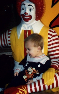 [picutre of Bryan and Ronald McDonald]